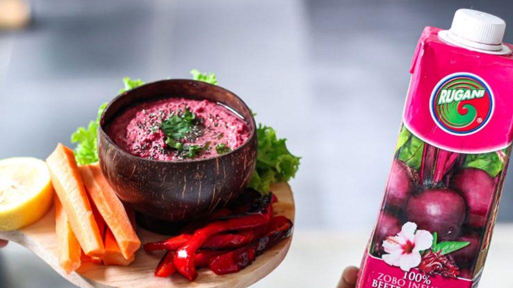 Rugani Beetroot Hummus in under 5 minutes