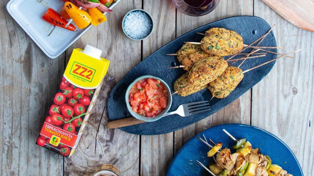 Chickpea Koftas with a Spicy ZZ2 Tomato Salsa