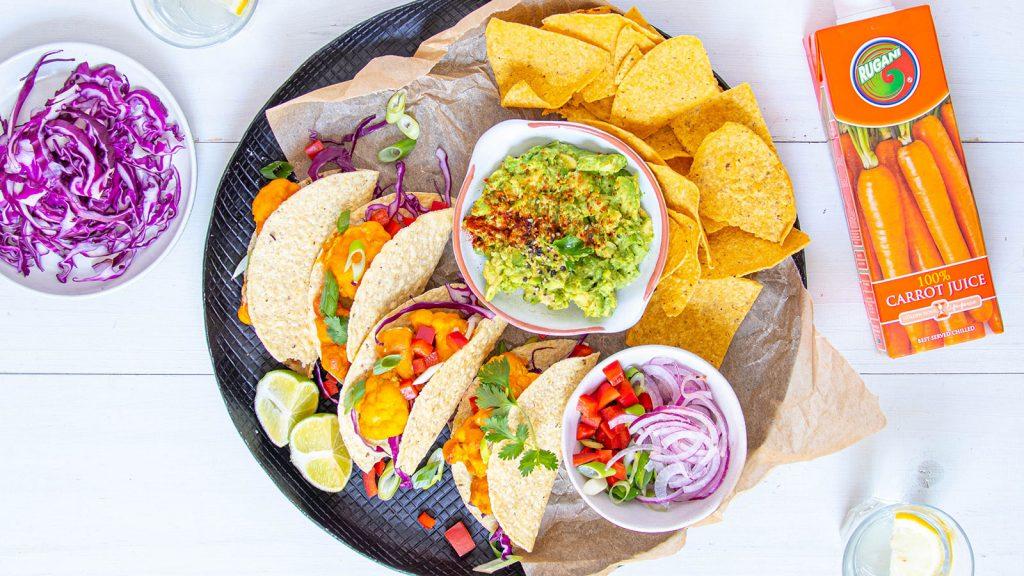 Buffalo Cauliflower Tacos (Vegan)