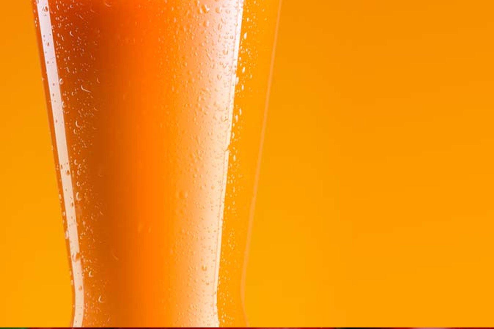 Orange juice close up