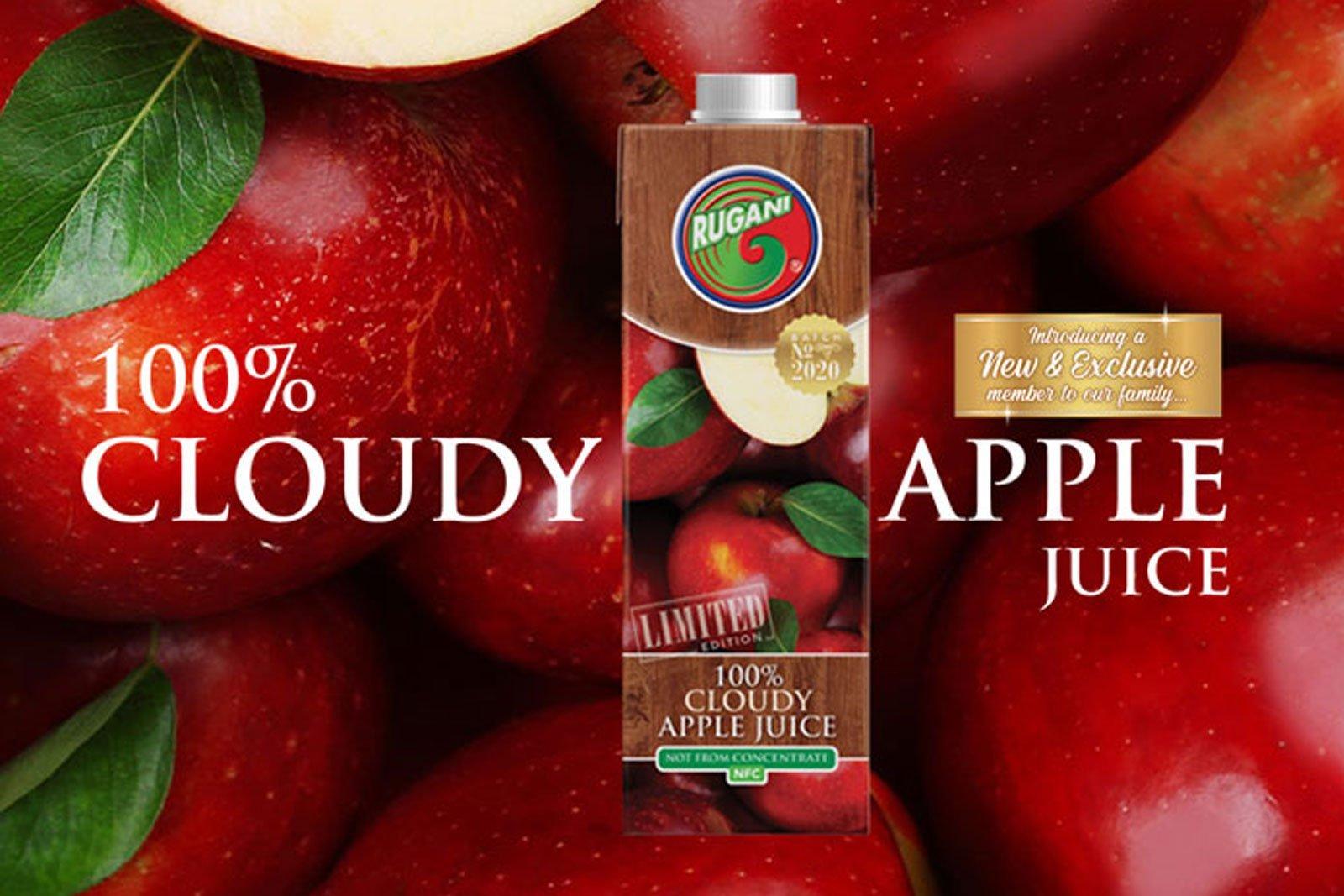 100% Cloudy apple juice feature