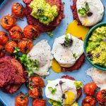 Beetroot Fritters with Poached Eggs
