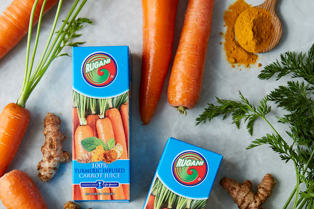 100% Rugani Turmeric Infused Carrot juice