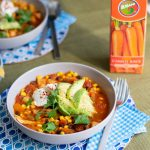 Rugani carrot juice meal prep in a bowl dressed with Avocado