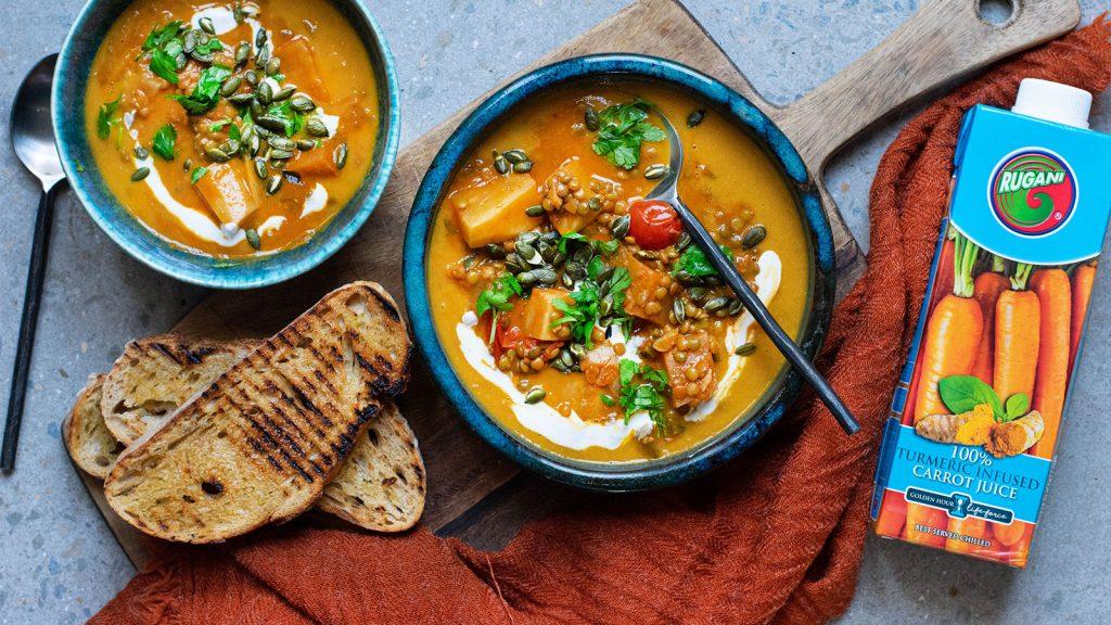Sweet Potato and Red Lentil Soup (V)