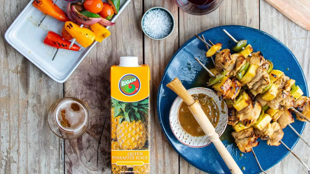 Chicken Thigh Skewers with Pineapple Marinade