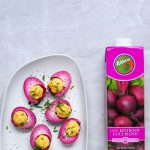 100% Beetroot juice and boiled egg recipe