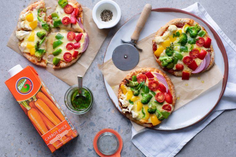 Rugani rainbow pit pizza and yellow papaya rugani