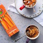 Rugani 100% carrot juice and carrot cake