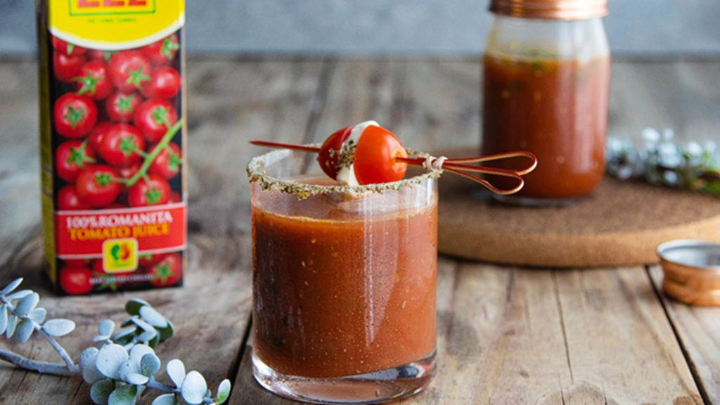 Caprese Bloody Mary Mocktail