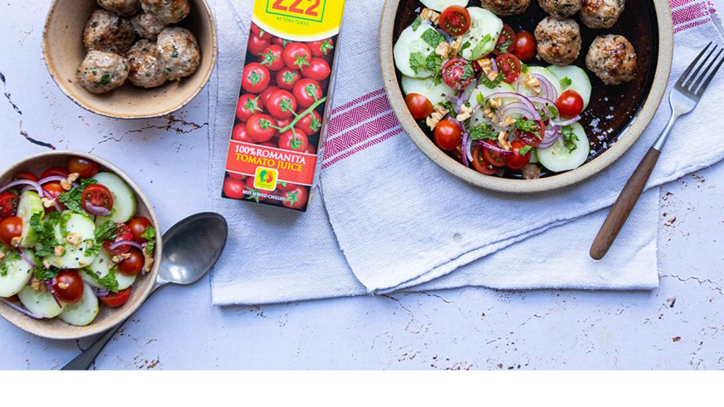 Lamb Meatballs with Heart Healthy Salad
