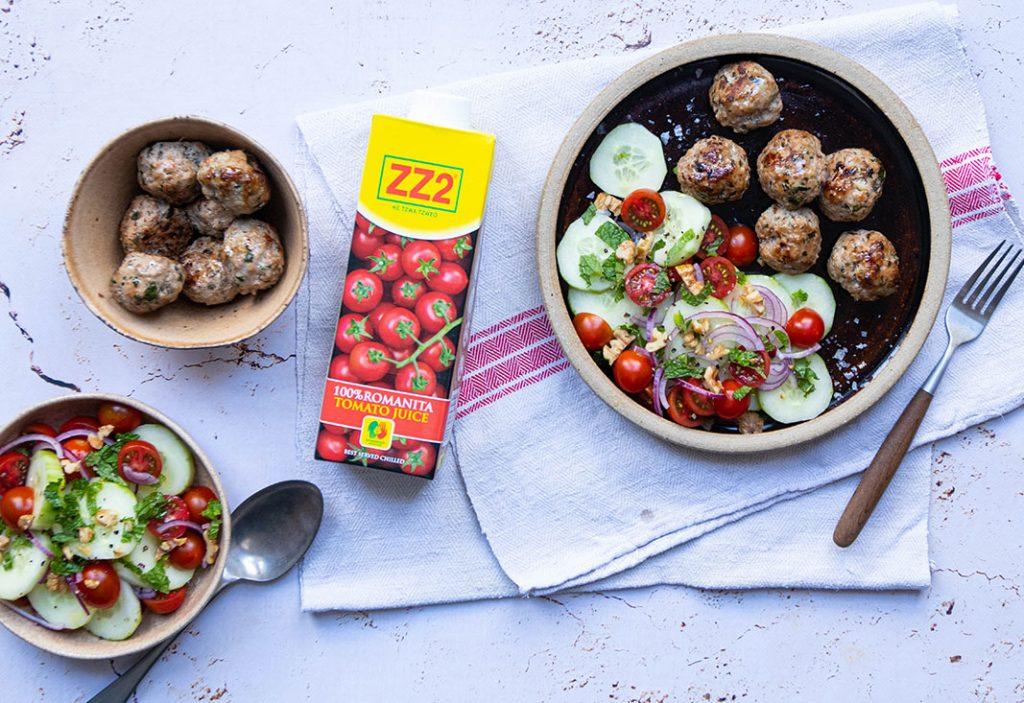 Lamb Meatballs with Heart-healthy Salad