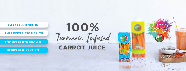 100% Turmeric Infused Carrot juice
