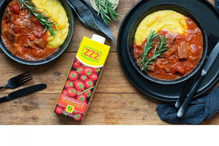 100% Romanita Tomato Juice beef stew