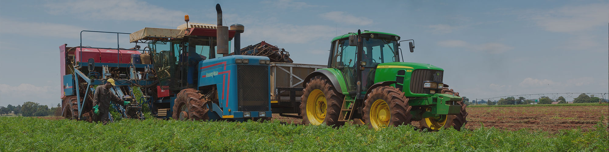 Harvesting tractors