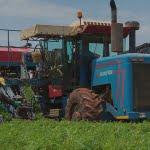farming tractor close
